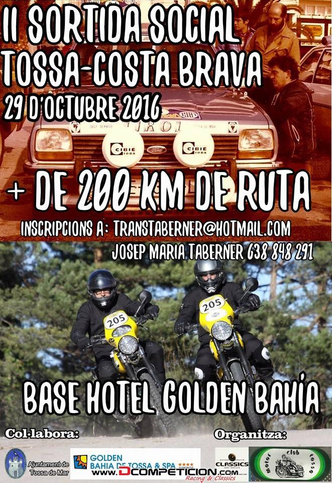Foto1 II RUTA SOCIAL TOSSA -COSTA BRAVA  2016