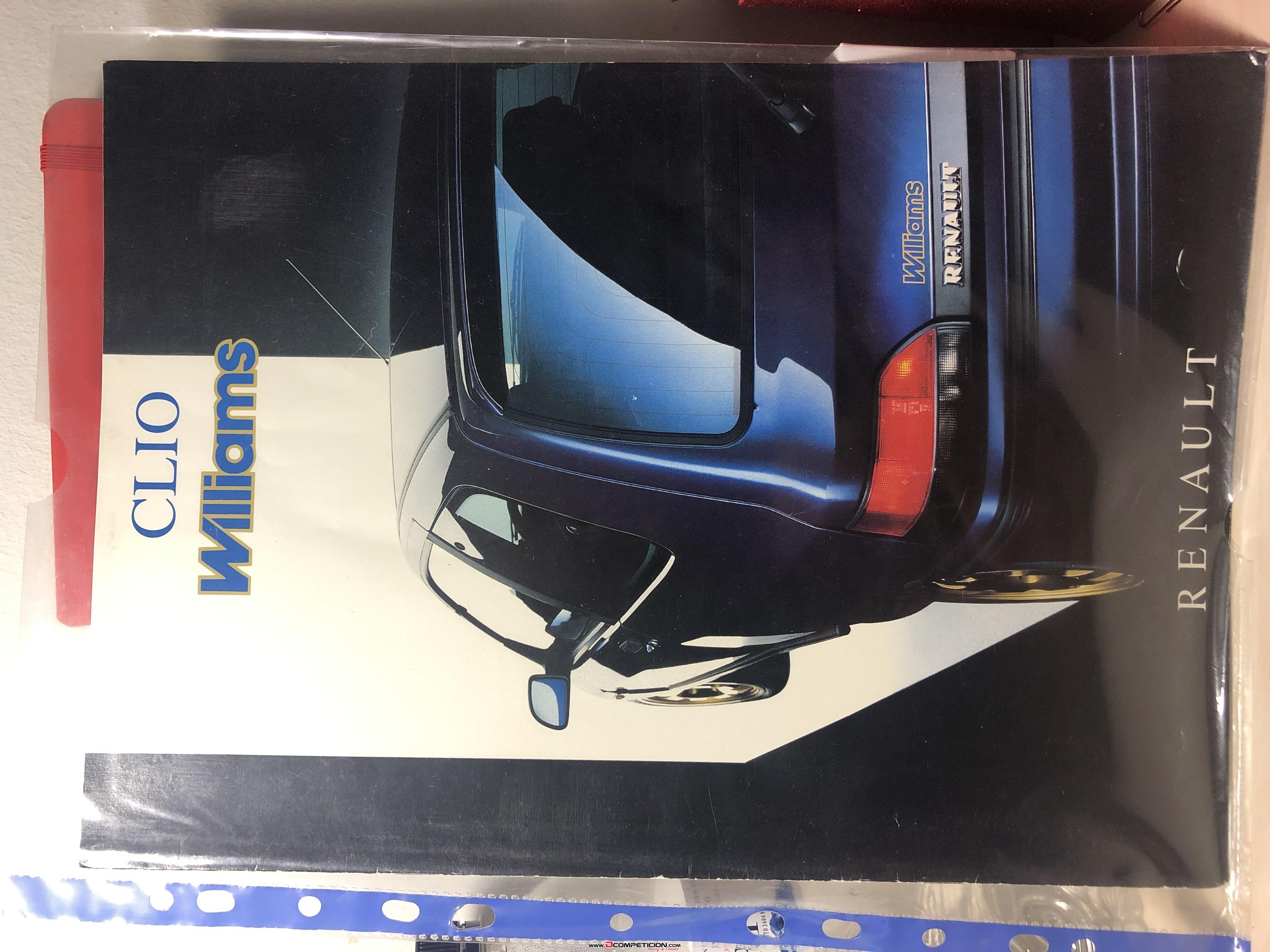 Foto1 catalogo Renault Clio Williams 1993