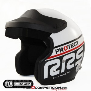 CASCO RRS PROTECT JET COLOR NEGRO/BLANCO - SNELL SA2010