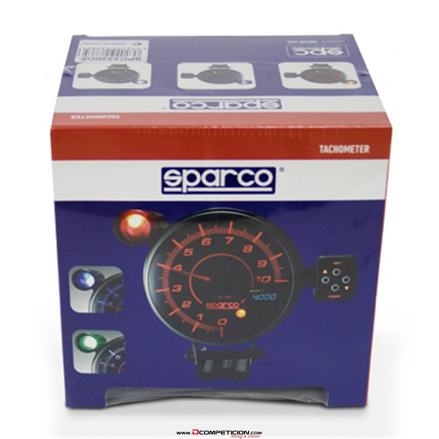 Tacometro RPM SPARCO 115mm Multiled