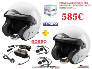 pack cascos sparco
