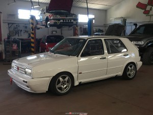 VW GOLF II  transformado en MK3 Con ABF 1.8 16v