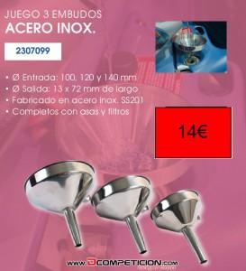 EMBUDOS ACERO INOX.